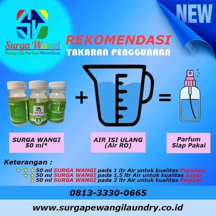 takaran cara membuat parfum waterbase - Parfum Laundry Waterbase Wangi Surga Dan Biang Parfum Water Based Merk Surga Wangi