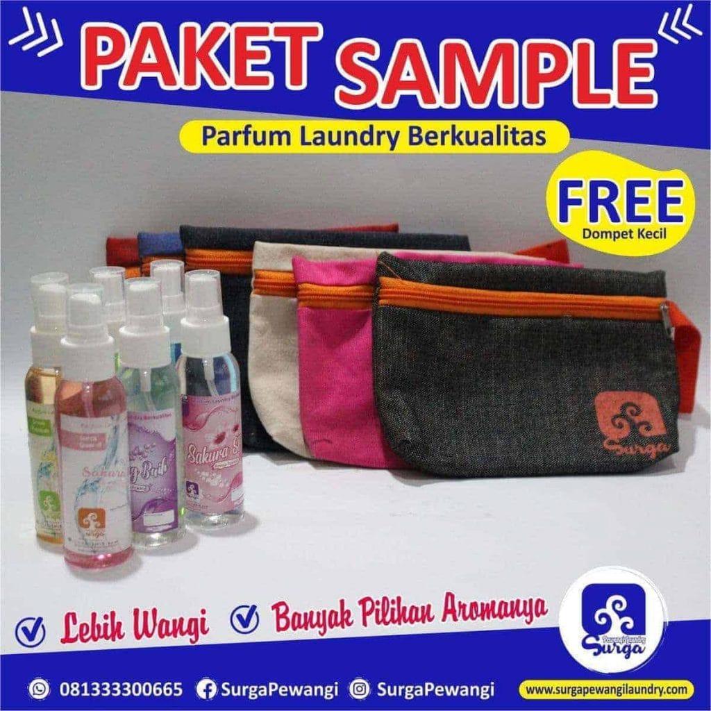 paket sample surga pewangi laundry 1024x1024 - Jual Parfum Laundry Kualitas Premium Surga Pewangi Laundry
