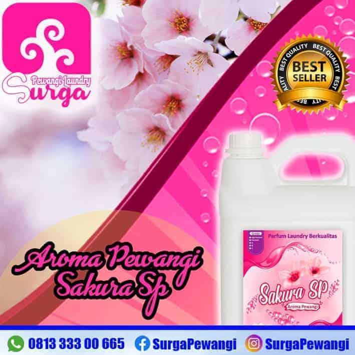 pewangi laundry sakura sp - Parfum Laundry Sakura yang Paling Wangi Merk Surga Pewangi Laundry